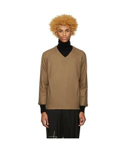 Undecorated Man | Brown Felted Pullover