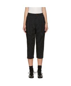 Comme Des Garçons Comme Des Garçons | Black Cropped Pleated Trousers