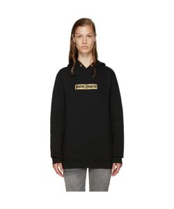Palm Angels | Black And Gold Logo Hoodie