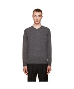 Wooyoungmi | Grey V-Neck Sweater