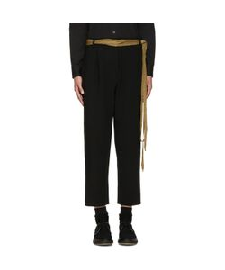 Sara Lanzi | Black Stretch-Crepe Trousers