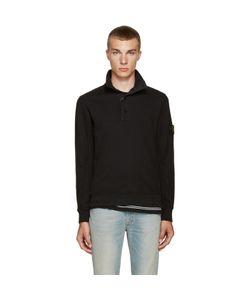 Stone Island | Black Button-Up Pullover