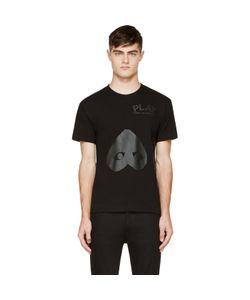 Comme Des Garçons Play   Black Upside Down Heart T-Shirt