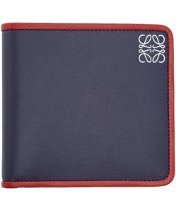 Loewe | Navy Leather Bifold Wallet