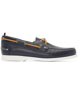 Moncler Gamme Bleu | Navy Leather Boat Shoes