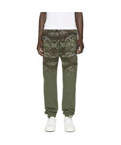 Marcelo Burlon County Of Milan   Green And Brown Banes Lounge Pants
