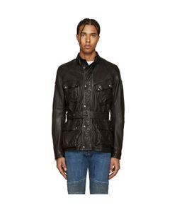 Belstaff | Black Leather Speedmaster Jacket