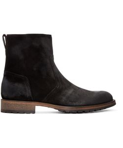 Belstaff | Black Suede Attwell Boots