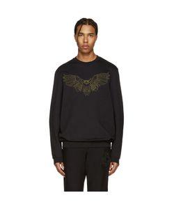 Markus Lupfer | Black Embroidered Owl Pullover