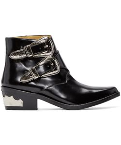 Toga Pulla | Black Western Buckle Boots
