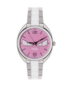 Fendi | Silver And Pink Momento Bugs Watch
