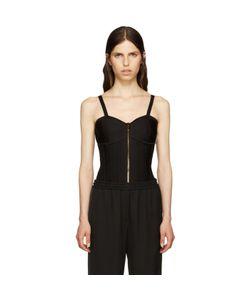 Balmain | Black Zip-Up Bodysuit
