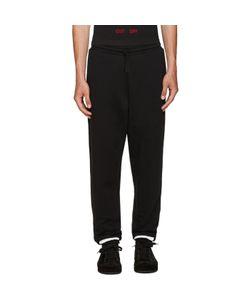 Off-White | Black Brushed Diagonals Lounge Pants