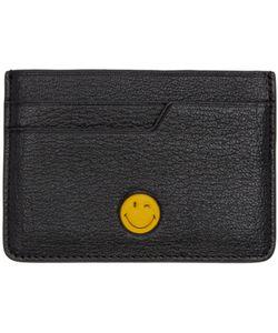 Anya Hindmarch | Black Wink Smiley Card Holder