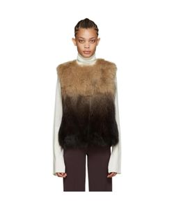 Meteo By Yves Salomon | Brown Fox Fur Vest
