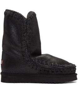Mou | Black Cracked Eskimo 24 Boots
