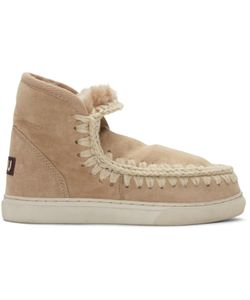 Mou | Tan Mini Eskimo Boots