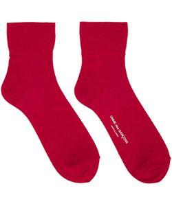 Comme Des Garçons   Red Short Socks