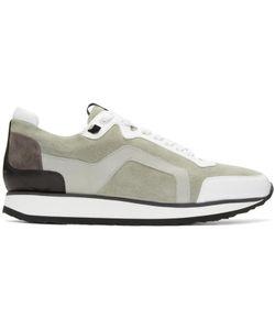 Pierre Hardy | Grey Suede Track Sneakers