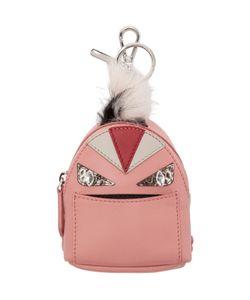 Fendi | Pink Fur-Trimmed Charm Wonders Backpack Keychain