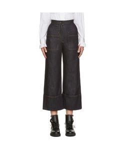 Fendi | Navy Wide-Leg Jeans