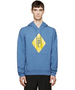 Pigalle | Blue And Yellow Logo Hoodie