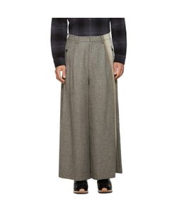 Facetasm | Wool Wide-Leg Trousers