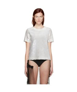 Ashish   Exclusive Ivory Sequin T-Shirt