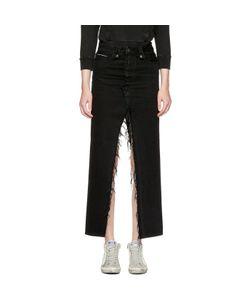 Unravel | Long Distressed Denim Skirt