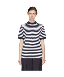 Blue Blue Japan | And Striped Mock Neck T-Shirt
