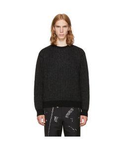 Christian Dada   And Striped Crewneck Sweater