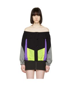 Alexander Wang | Colorblocked Off-The-Shoulder Blouse