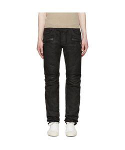 Balmain   Coated Biker Jeans
