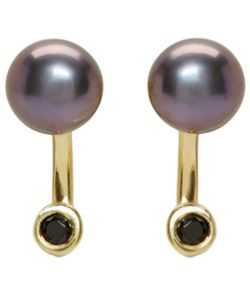 Pamela Love | Exclusive Gold And Black Pearl Gravitation Earrings