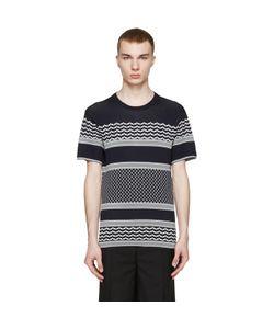 Neil Barrett   And White Knit T-Shirt