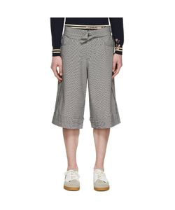 Yang Li   And White Houndstooth Linen Shorts
