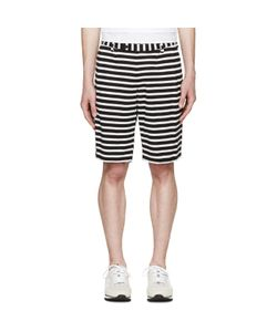 08Sircus | And White Striped Border Shorts