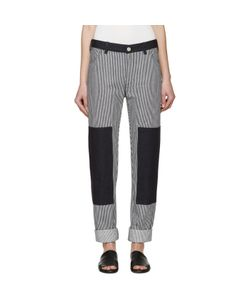 Nomia | And White Denim Ticking Painter Jeans