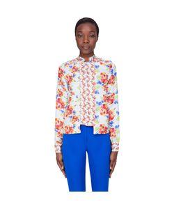 Suno | Blue Floral Silk Bouquet Blouse