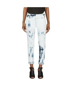Anthony Vaccarello | Bleached Denim Cropped Jeans
