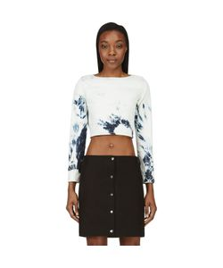 Anthony Vaccarello | Bleached Denim Boatneck Crop Top