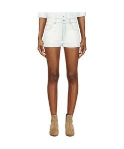 Roseanna | Blue Bleached Denim Shorts