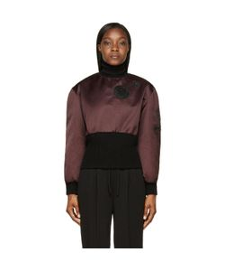 Yang Li | Patched Satin Back To Front Ma-1 Turtleneck