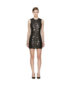 Anthony Vaccarello | Leather Zip-Front Biker Dress