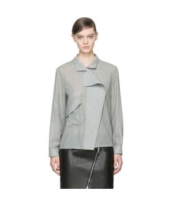 Anthony Vaccarello | Wool Angled Pocket Blouse