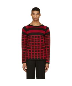Christian Dada | And Red Check Knit Shirt