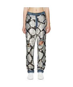 Ashish   Sequinned Destroyed Jeans