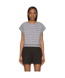 Jay Ahr | And White Eyelet Studded Top