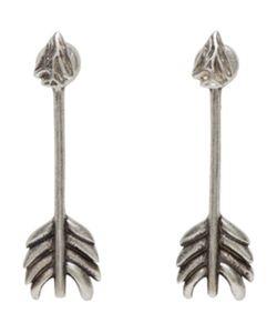 Pamela Love   Exclusive Silver Shooting Arrow Earrings