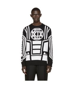 KTZ   And Ivory Knit Logo Sweater